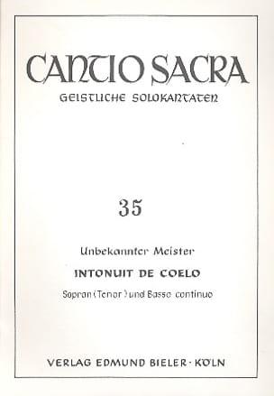 Intonuit De Coelo - Partition - Mélodies - laflutedepan.com