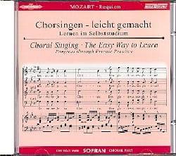 Requiem K 626. CD Soprano MOZART Partition Chœur - laflutedepan