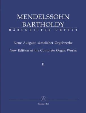Oeuvre d'Orgue Volume 2 MENDELSSOHN Partition Orgue - laflutedepan