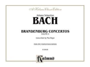Concertos Brandebourgeois Volume 2. 4 Mains - BACH - laflutedepan.com