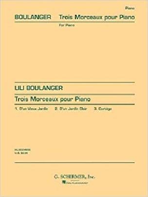 3 Morceaux - Lili Boulanger - Partition - Piano - laflutedepan.com