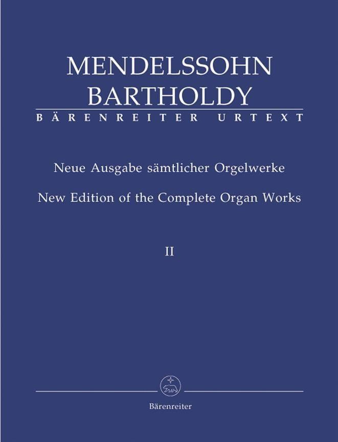 Oeuvre d'Orgue Volume 2 - MENDELSSOHN - Partition - laflutedepan.com