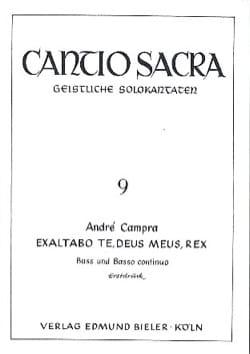 Exaltabo Te, Deus Meus, Rex CAMPRA Partition Mélodies - laflutedepan