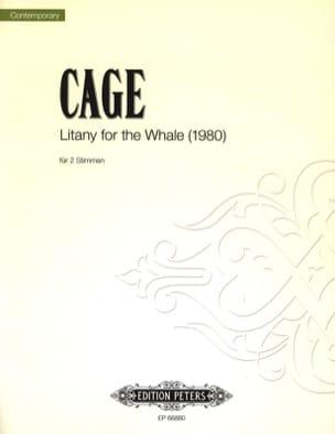 Litany For The Whale pour 2 voix CAGE Partition Duos - laflutedepan