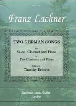 2 German Songs Franz Lachner Partition Clarinette - laflutedepan
