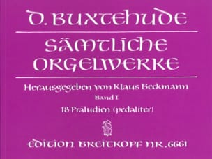 Oeuvre Pour Orgue. Volume 1 BUXTEHUDE Partition Orgue - laflutedepan