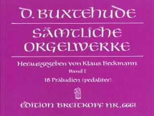Oeuvre Pour Orgue. Volume 1 BUXTEHUDE Partition Orgue - laflutedepan