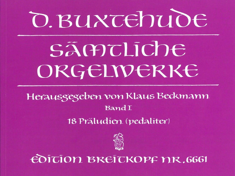 Oeuvre Pour Orgue. Volume 1 - BUXTEHUDE - Partition - laflutedepan.com