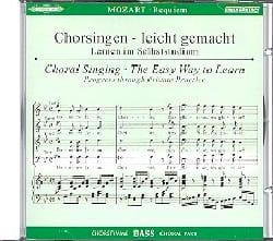 Requiem K 626. CD Basse MOZART Partition Chœur - laflutedepan