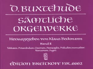 Oeuvre Pour Orgue. Volume 2 BUXTEHUDE Partition Orgue - laflutedepan