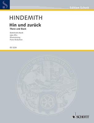 Hin Und Zurück HINDEMITH Partition Opéras - laflutedepan