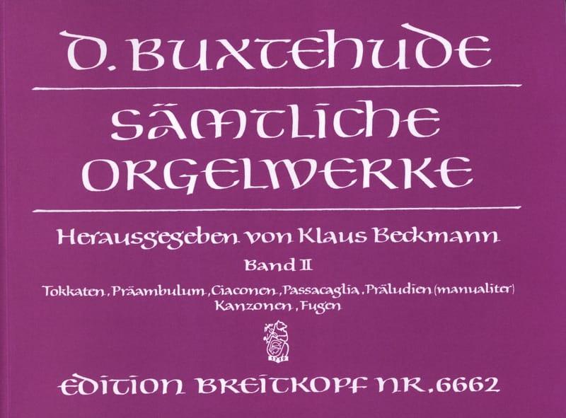 Oeuvre Pour Orgue. Volume 2 - BUXTEHUDE - Partition - laflutedepan.com