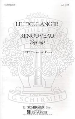 Lili Boulanger - Renewal Spring - Partition - di-arezzo.com