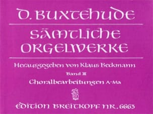 Oeuvre Pour Orgue. Volume 3 BUXTEHUDE Partition Orgue - laflutedepan