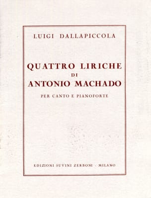 4 Liriche Di Antonio Machado Luigi Dallapiccola Partition laflutedepan
