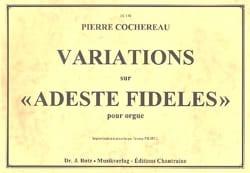 Variations sur Adeste Fideles Pierre Cochereau Partition laflutedepan