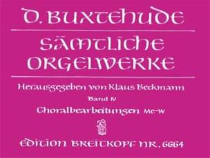 Oeuvre Pour Orgue. Volume 4 BUXTEHUDE Partition Orgue - laflutedepan