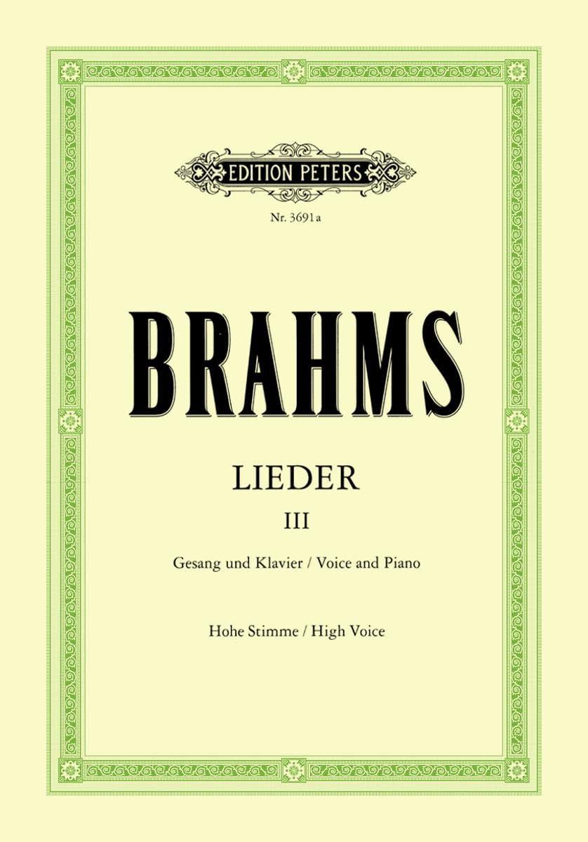 Lieder Volume 3. Voix Haute - BRAHMS - Partition - laflutedepan.com