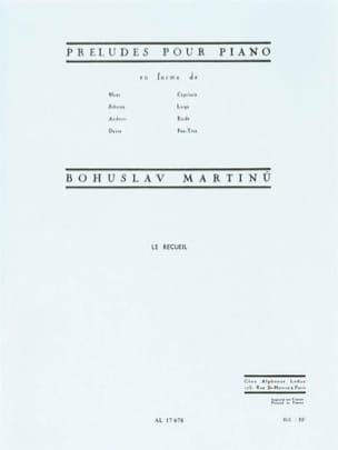 Préludes en Forme de... - MARTINU - Partition - laflutedepan.com