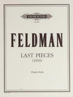 Last Pieces 1959 Morton Feldman Partition Piano - laflutedepan