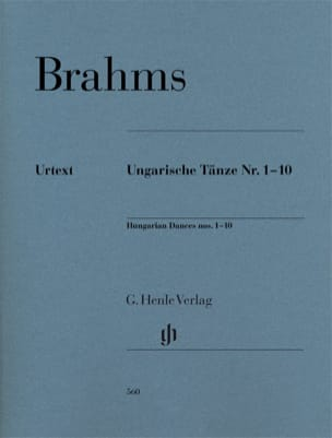 Danses Hongroises n° 1 à 10 BRAHMS Partition Piano - laflutedepan