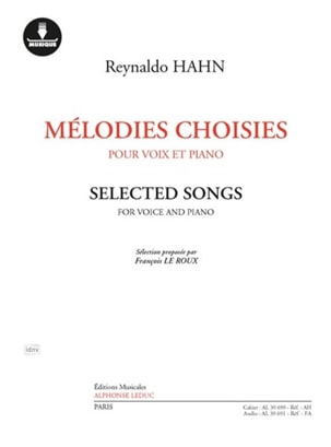 Mélodies choisies Reynaldo Hahn Partition Mélodies - laflutedepan
