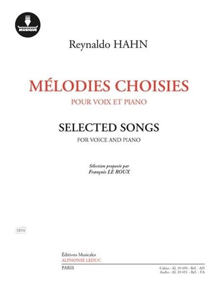 Mélodies choisies - Reynaldo Hahn - Partition - laflutedepan.com