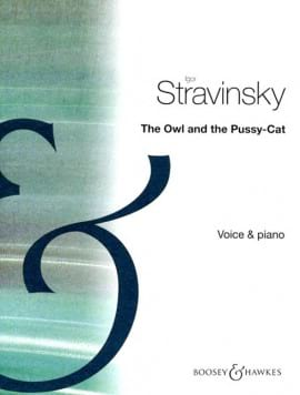 The Owl And The Pussycat STRAVINSKY Partition Mélodies - laflutedepan