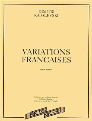Variations Françaises KABALEVSKY Partition Piano - laflutedepan