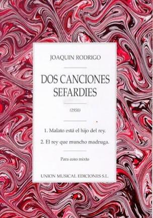 2 Canciones Sefardies RODRIGO Partition Chœur - laflutedepan