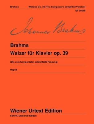 16 Valses Opus 39 - Version simplifiée BRAHMS Partition laflutedepan