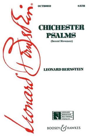 Chichester Psalms, 2ème Mvt BERNSTEIN Partition Chœur - laflutedepan
