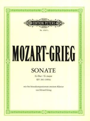 Sonate K 283. 2 Pianos MOZART Partition Piano - laflutedepan