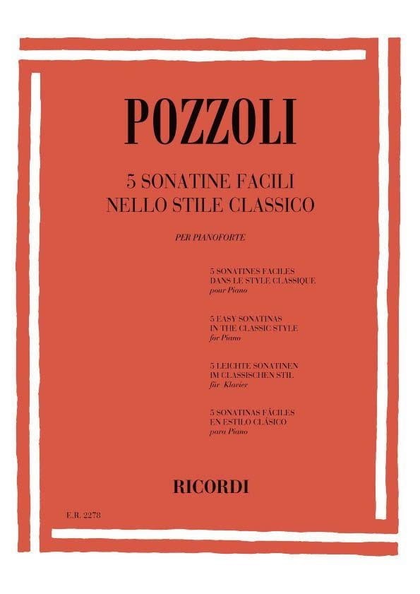 5 Sonatine Facili Nello Stile Classico - Pozzoli - laflutedepan.com