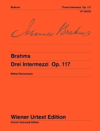 3 Intermezzi, Opus 117 - BRAHMS - Partition - Piano - laflutedepan.com