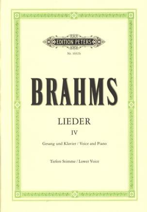 BRAHMS - Lieder Volume 4 Serious Voice - Partition - di-arezzo.com
