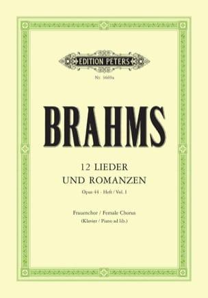 12 Lieder Et Romances Opus 44 Volume 1 BRAHMS Partition laflutedepan