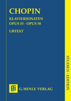 Sonates pour piano CHOPIN Partition Petit format - laflutedepan