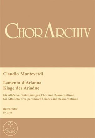 Claudio Monteverdi - Lamento of Arianna - Partition - di-arezzo.co.uk