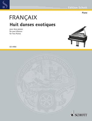 8 Danses Exotiques. 2 Pianos FRANÇAIX Partition Piano - laflutedepan