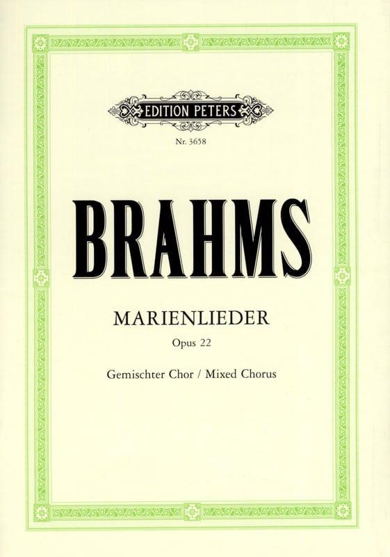 Marienlieder Opus 22 - BRAHMS - Partition - Chœur - laflutedepan.com