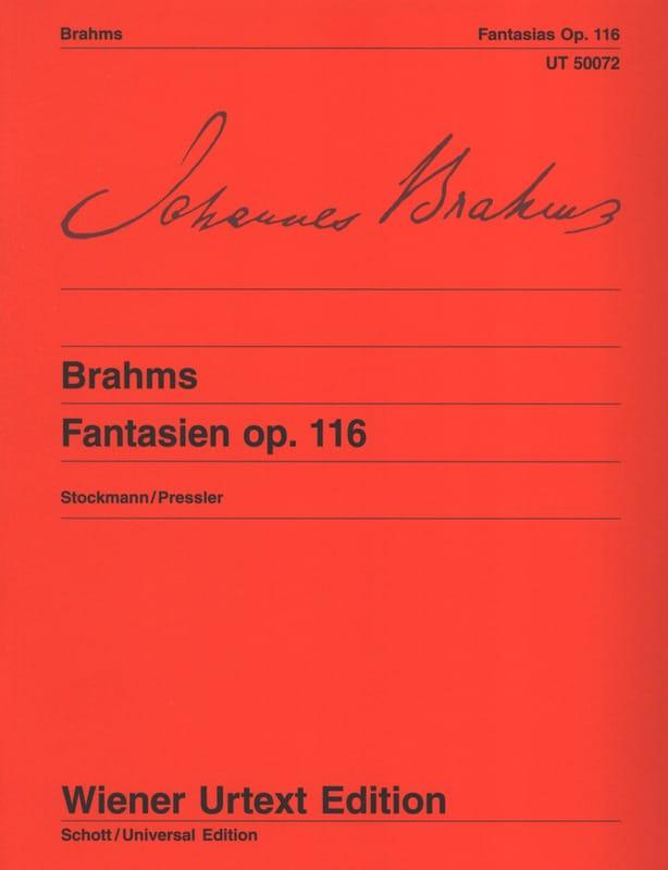 7 Fantasies Opus 116 - BRAHMS - Partition - Piano - laflutedepan.com