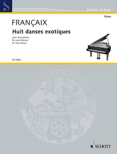 8 Danses Exotiques. 2 Pianos - FRANÇAIX - Partition - laflutedepan.com