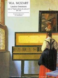 Laudate Dominum KV 339 MOZART Partition Piano - laflutedepan