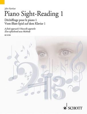 Piano Sight-Reading Volume 1 John Kember Partition laflutedepan