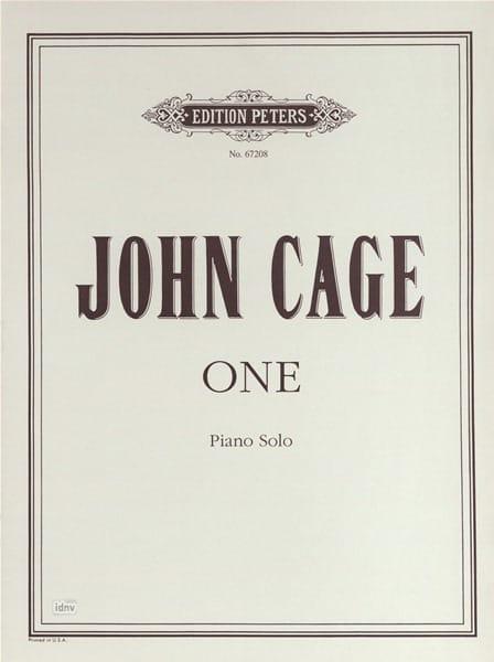 One for piano solo - CAGE - Partition - Piano - laflutedepan.com