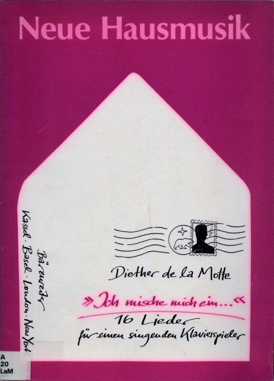 Ich mische mich ein (1987) - Diether de la Motte - laflutedepan.com