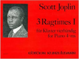 3 Ragtimes Volume 1. 4 Mains JOPLIN Partition Piano - laflutedepan
