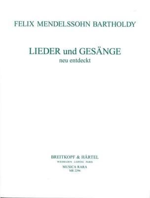 Lieder Und Gesänge MENDELSSOHN Partition Mélodies - laflutedepan