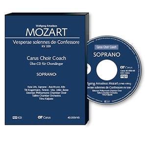 Vêpres Solennelles d'un Confesseur Kv 339 - CD Soprano CHOEUR - laflutedepan.com